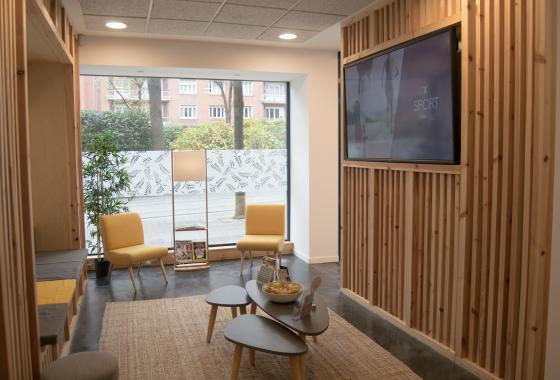 sala de espera fisioclinics Bilbao